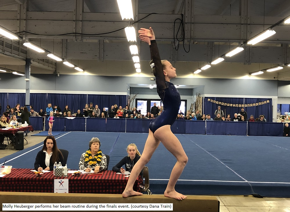 191109 Molly Heuberger performing her beam routine during the finals event