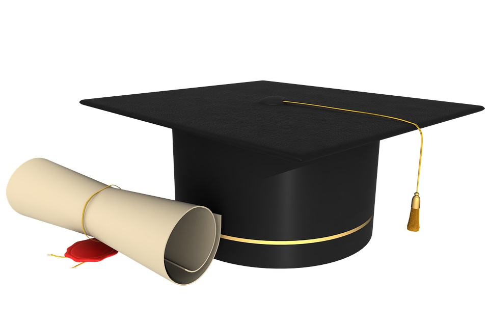 graduation diploma stock image via Pixabay