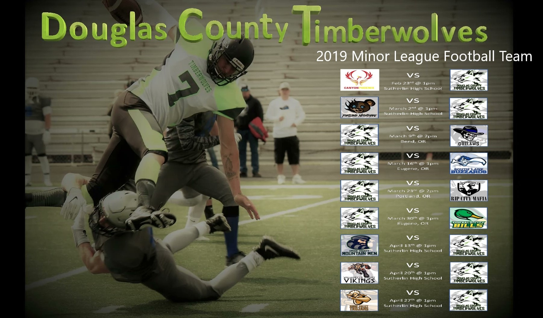 190209 Douglas County Timberwolves 2019 schedule