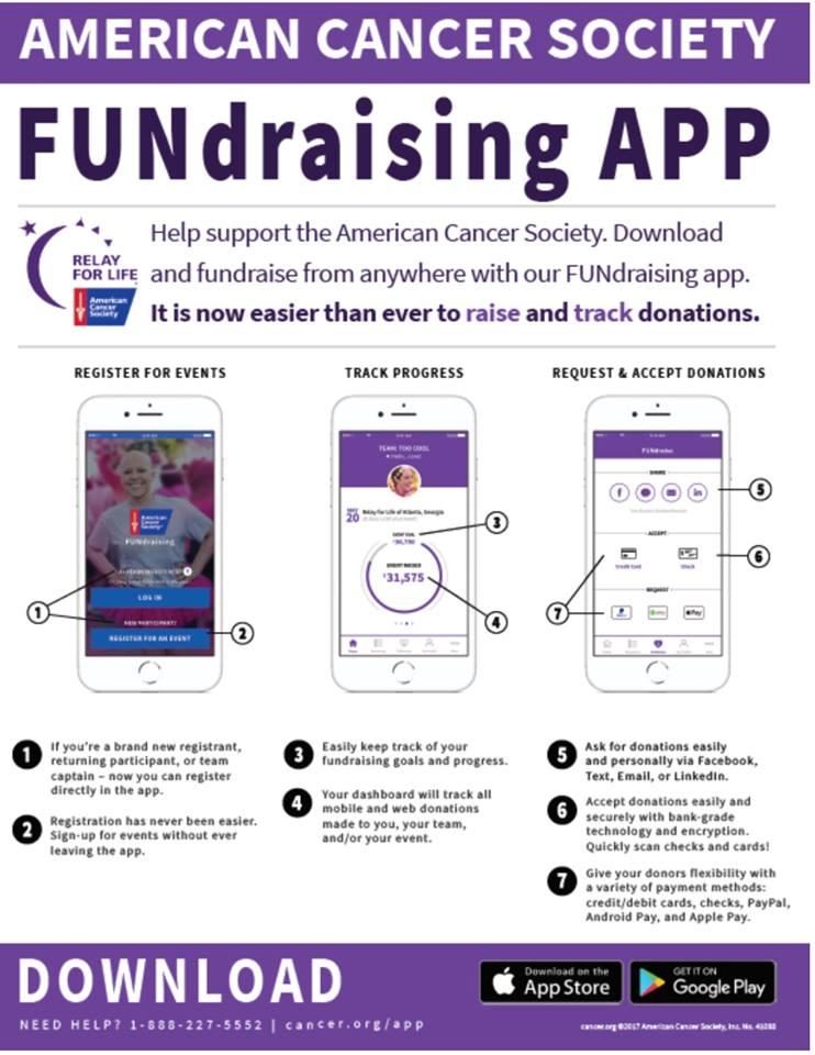 180710 Relay for Life app