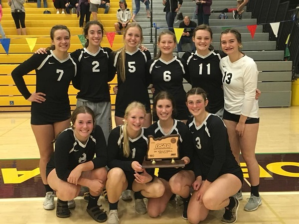 181103 South umpqua VB 3rd place