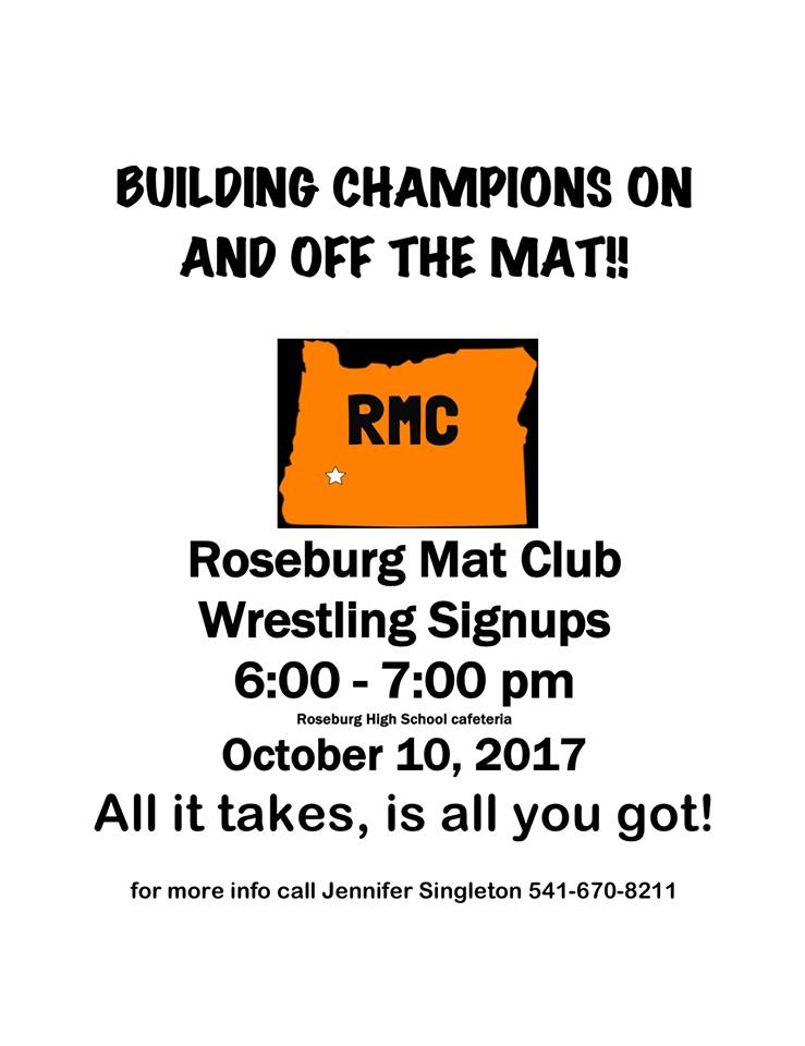171004 Roseburg Mat Club sign ups